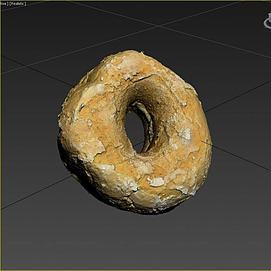 游戏食物甜甜圈模型