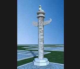 华表柱,柱子模型
