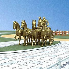 城市雕塑小品马模型