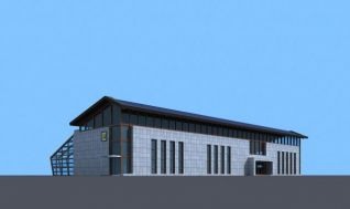 农业厂房玻璃温室大棚3d模型
