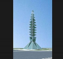 雕塑,城市小品高塔模型
