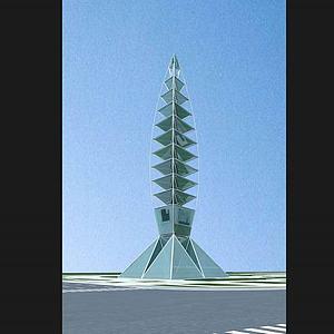 雕塑,城市小品高塔模型3d模型