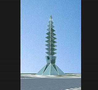 雕塑,城市小品高塔3d模型