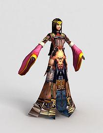 3d游戏角色寒素模型