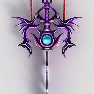 游戏道具天魔飞剑模型