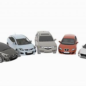 雪铁龙马自达汽车合集模型