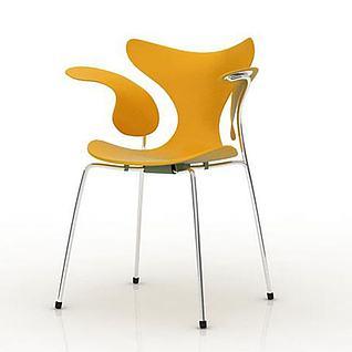 3d时尚简约休闲椅子模型