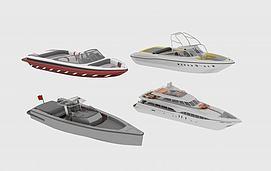现代游艇模型