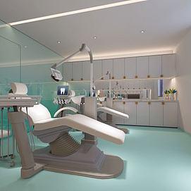 医疗设备牙科椅模型