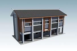 三层办公楼模型