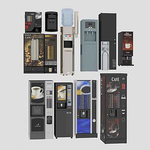 饮水机咖啡机合集模型