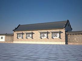古建筑小屋模型