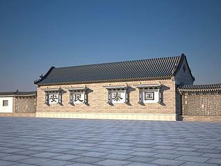 3d古建筑小屋模型