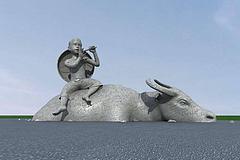 雕塑牛模型3d模型