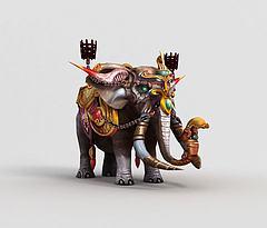 游戏角色大象模型3d模型