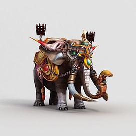 3d<font class='myIsRed'>游戏角色</font>大象模型