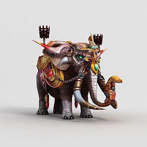 3d<font class='myIsRed'>游戲角色</font>大象模型