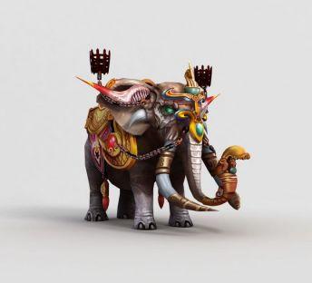 游戏角色大象