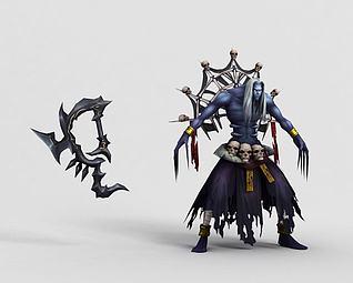 3d游戏人物角色后卿模型