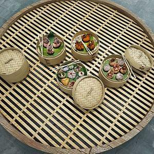食物小笼蒸包3d模型