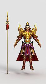 游戏角色天宫守卫模型