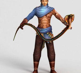 游戏人物养蛇人