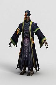 游戏人物僵尸模型