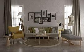 现代简约北欧沙发组合模型
