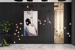现代吊灯挂画组合模型3d模型