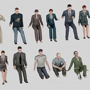 各类人物组合模型