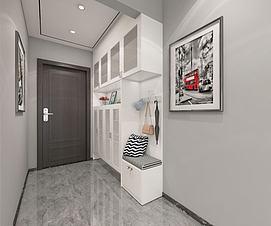 入户鞋柜模型