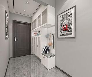 入户鞋柜3d模型