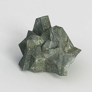 游戏道具石头模型