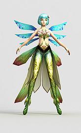 游戏人物角色兰花妖模型