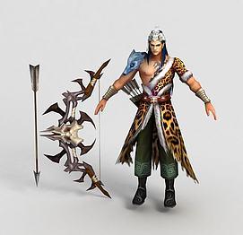 游戏人物角色后羿模型