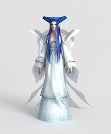 游戏人物角色冰仙子模型