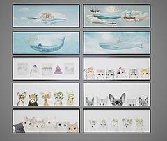 儿童卡通装饰画模型3d模型