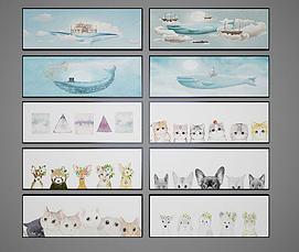 儿童卡通装饰画模型