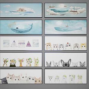 3d儿童卡通<font class='myIsRed'>装饰</font>画模型