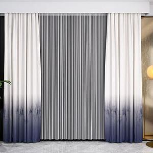 现代窗帘模型