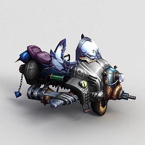 3d神魔坐騎機器飛騎單人模型