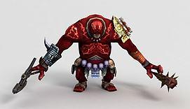 游戏角色三目巨人模型