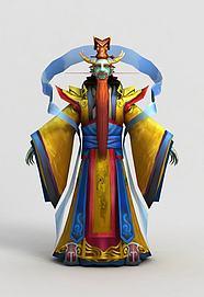 游戏角色东海龙王模型