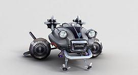 神魔坐骑机械飞行器模型