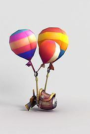 神魔坐骑飞骑气球模型