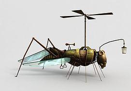 神魔坐骑飞骑机械蚂蚱模型