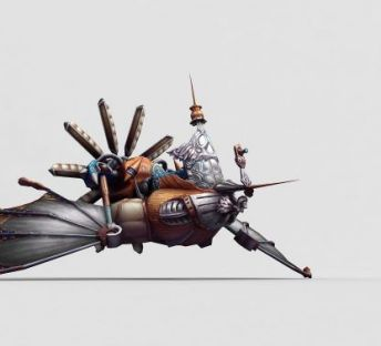 游戏道具蒸汽飞艇