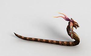 3d<font class='myIsRed'>游戲角色</font>三翎蛇模型