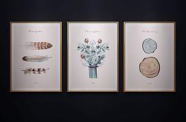 现代北欧装饰挂画艺术画模型