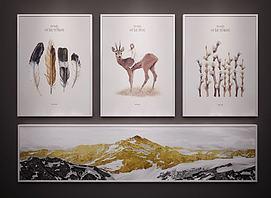 现代北欧装饰挂画模型